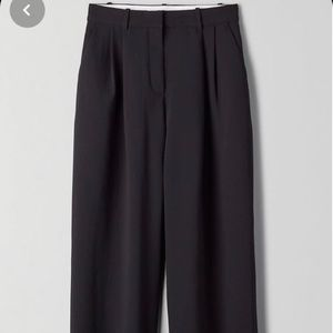Aritzia Wilfred Aramis Pant, BLACK, Size 4